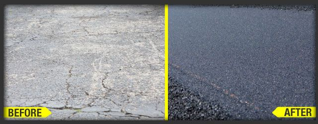 Before and after asphalt