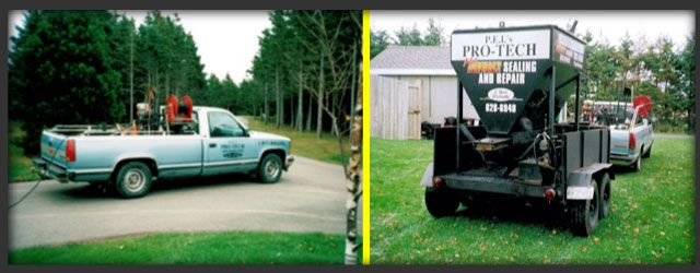 Pro-Tech Asphalt trucks and machine
